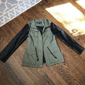 Military cargo jacket with embellishments a9